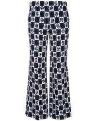 Emilio Pucci - Printed Cropped Flared Trousers - Lyst