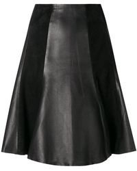 Karl Lagerfeld - Paneled A-line Skirt - Lyst