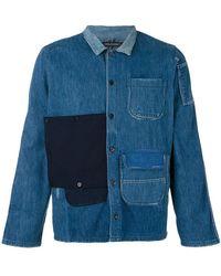 Longjourney - Patched Denim Shirt - Lyst