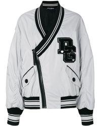 Dolce & Gabbana - Logo Patch Bomber Jacket - Lyst