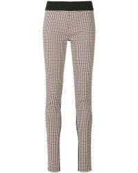 Stella McCartney - Plaid Front leggings - Lyst