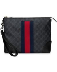 be88a2cf1ad16b Gucci Snake Embossed Tote in Black for Men - Lyst