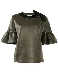 Fendi - Short Bell Sleeve Blouse - Lyst