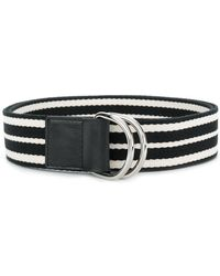 RED Valentino - Striped Buckle Belt - Lyst