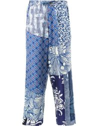 Pierre Louis Mascia - Patchwork Cropped Trousers - Lyst