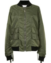 Strateas Carlucci - Orchis Veil Bomber Jacket - Lyst