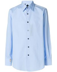 Billionaire - Classic Collared Button Front Shirt - Lyst