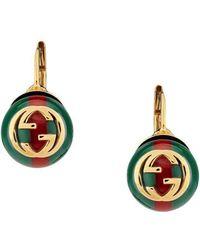 Gucci - - Web Earrings - Lyst
