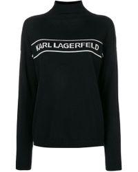 Karl Lagerfeld - Mock Neck Logo Jumper - Lyst