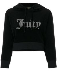 Juicy Couture - Velour Shrunken Hoodie - Lyst