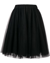 P.A.R.O.S.H. - Tulle Gathered Skirt - Lyst