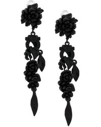 Ferragamo - Enamelled Flower Earrings - Lyst