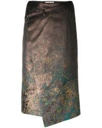 A.F.Vandevorst - Asymmetric Texturised Skirt - Lyst