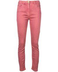 Elisabetta Franchi - Glitter Embellished Skinny Jeans - Lyst