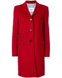 Dondup - Fitted Button Up Coat - Lyst