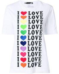 Love Moschino - I Love Print T-shirt - Lyst