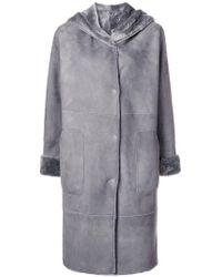 Manzoni 24 - Hooded Reversible Coat - Lyst