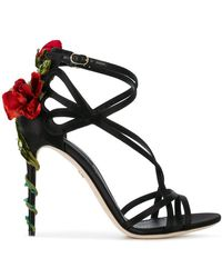 c31d3cd9801 Dolce   Gabbana - Jewel Keira Heeled Sandals - Lyst