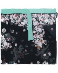 Dolce & Gabbana - Floral Cherub Print Scarf - Lyst