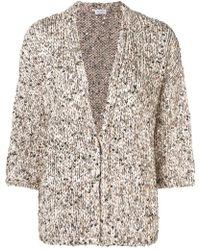 Brunello Cucinelli - Sequin Embellished Cardigan - Lyst