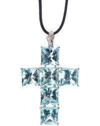 Gavello - Cross Pendant Necklace - Lyst