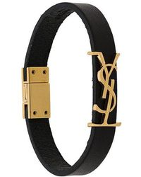 Saint Laurent - Bracelet à plaque YSL - Lyst