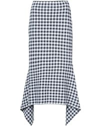 Rosetta Getty | Checked Draped Skirt | Lyst
