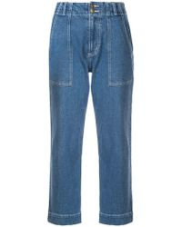 Apiece Apart - Cropped Jeans - Lyst