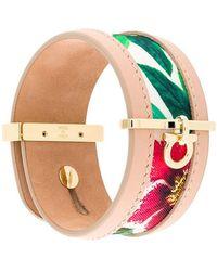 Ferragamo - Printed Gancio Cuff Bracelet - Lyst