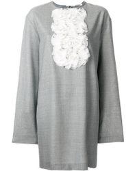Lardini - Rouche Bib Shift Dress - Lyst