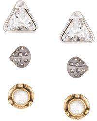 Camila Klein - Three Earrings Set - Lyst