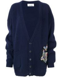 Faith Connexion - Oversized Embroidered Cardigan - Lyst