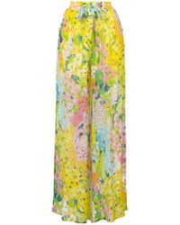 Boutique Moschino - Floral Palazzo Pants - Lyst