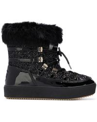 Chiara Ferragni - 30mm Glittered Snow Boots W/ Lapin Fur - Lyst