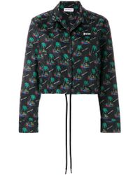 Palm Angels - Islands Cropped Coach Jacket - Lyst