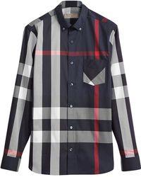 0594e65a188 Lyst - Chemises Burberry homme à partir de 60 €