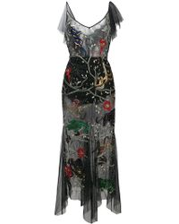 Amen - Embroidered Sheer Dress - Lyst