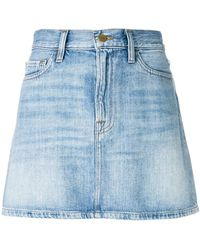 0bb9f1e8c2fb98 Lyst - Mini jupe Louis Vuitton en coloris Bleu