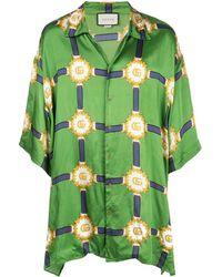 Gucci Overhemd Met GG Print - Groen