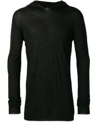 Rick Owens - Knitted hooded top - Lyst