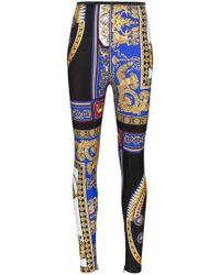 Versace - The Lovers High Waisted Print Skinny Leggings - Lyst