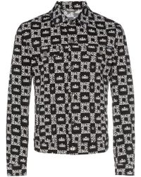 Dolce & Gabbana - Logo-checked Denim Jacket - Lyst