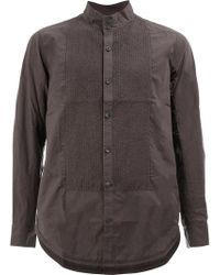 Ziggy Chen - Pleated Front Shirt - Lyst