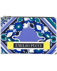 Emilio Pucci - Abstract Print Flat Clutch - Lyst
