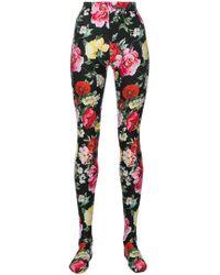 Dolce & Gabbana - Floral Print Tights - Lyst