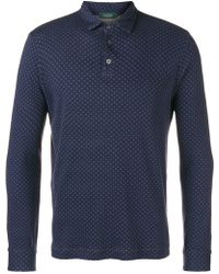 Zanone - Dotted Polo Shirt - Lyst