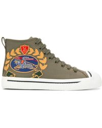 Burberry - Embroidered Logo Sneakers - Lyst