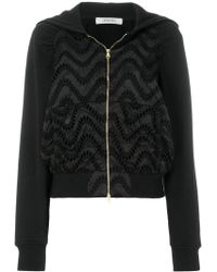 Dorothee Schumacher   Embroidered Zipped Hoodie   Lyst