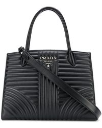 Prada - Diagramme Quilted Tote - Lyst