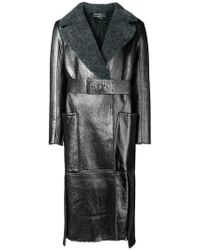 Ferragamo - Metallic Belted Coat - Lyst